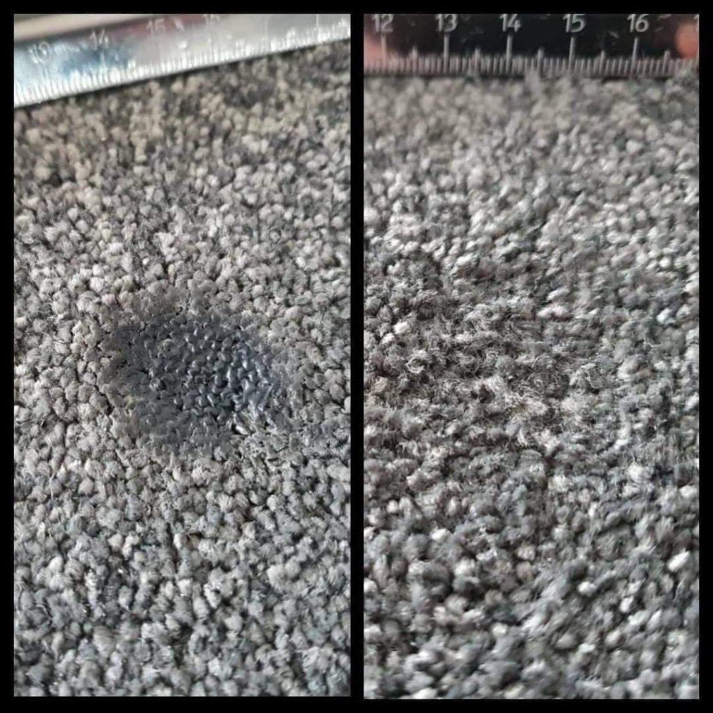 cigarette burn in carpet
